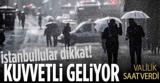 İstanbul Valiliği'nden hava durumu uyarısı!