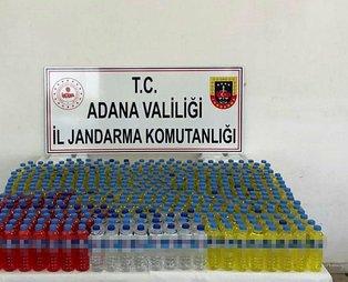 Adana'da 330 litre sahte içki ele geçirildi