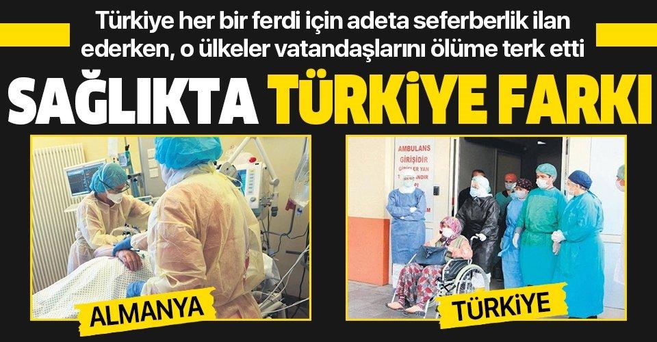 Sağlıkta Türkiye farkı! Türkiye yaşlıları el üstünde tutarken, o ülkeler ölüme terk etti