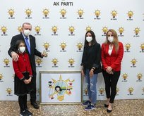 Erdoğan Simay'la parti logosu için buluştu