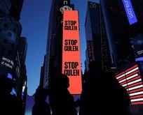Times Meydanı'nda Stop Gülen ilanı