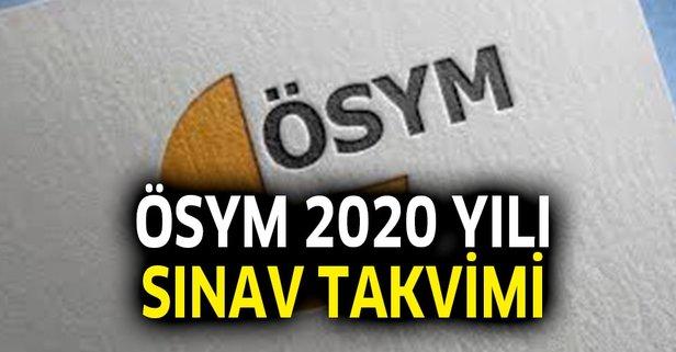 Adaylar dikkat! 2020 ÖSYM sınav takvimi açıklandı mı?