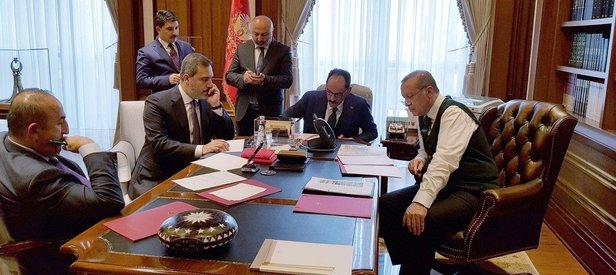Kritik görüşme sonrası Erdoğandan ilk mesaj