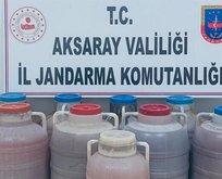Aksaray'da kaçak içki operasyonu: 2 gözaltı