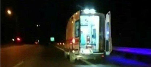 Mersin'de akılalmaz olay! Şoförüm dedi ambulansı kaçırdı