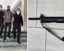 Kavgacı koca pompalıyla çocukları vurdu