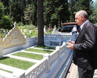 Başkan Erdoğan'dan kabir ziyareti