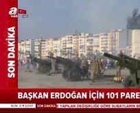 İzmirde 101 pare top atışı gerçekleştirildi