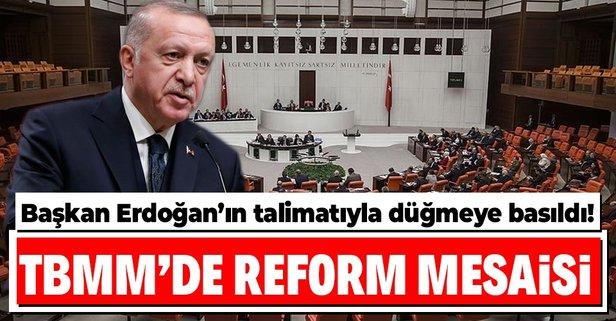 Reform düğmesine basıldı
