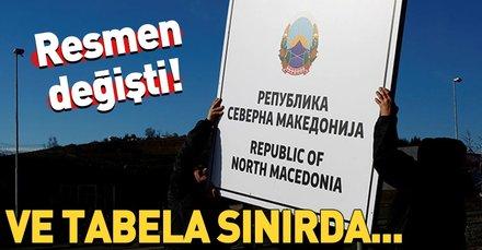 Makedonya-Yunanistan sınırına Kuzey Makedonya tabelası konuldu