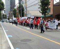 Japonya'da FETÖ protestosu