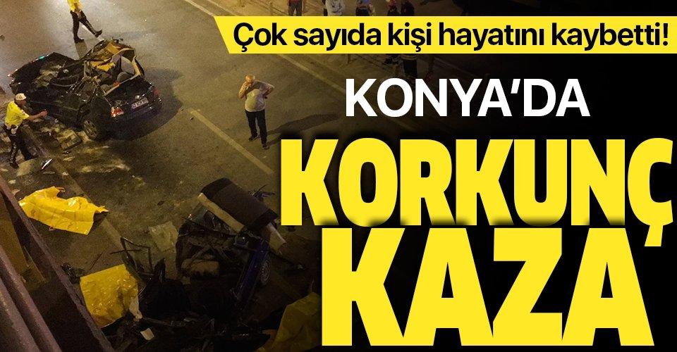 Son dakika: Konya'da feci kaza! İki otomobil çarpıştı