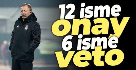 12 isme onay 6 isme veto! İşte Beşiktaş'ın transfer listesi