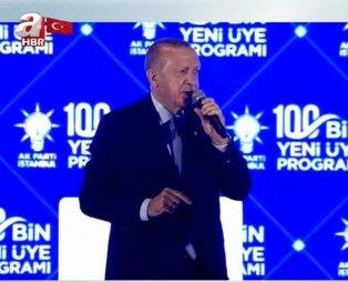 Son dakika: Başkan Recep Tayyip Erdoğan'dan AK Parti İstanbul 100 Bin Yeni Üye Programı'nda önemli açıklamalar
