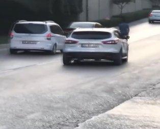 Adana'da trafikte ilginç görüntü