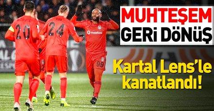 Kartal'dan muhteşem geri dönüş   Sarpsborg: 2 - Beşiktaş: 3 Maç sonucu