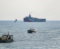 Oruç Reis, Antalya Limanı'ndan ayrıldı!
