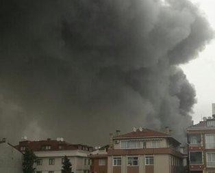 Avcılar'da fabrika yangını!
