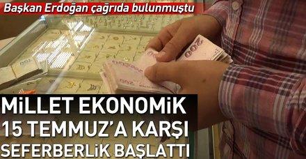 Başkan Erdoğan'ın döviz ve altın çağrısına vatandaştan tam destek