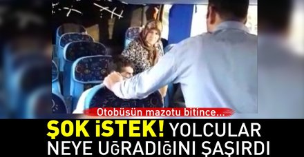 Otobüsün mazotu bitti, yolculardan mazot parası istediler