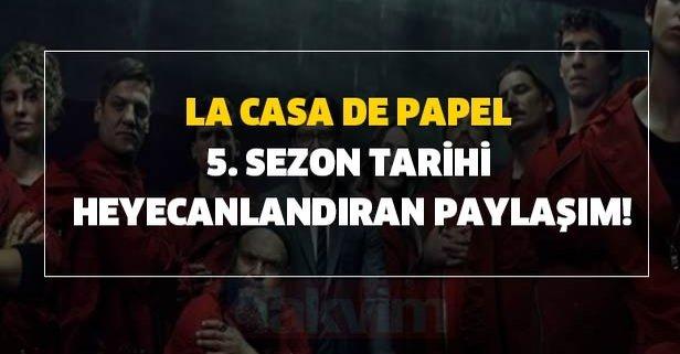 La Casa De Papel 5. sezon tarihi heyecanlandıran paylaşım!