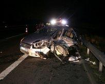 İki otomobil çarpıştı: 2 ölü, 9 yaralı