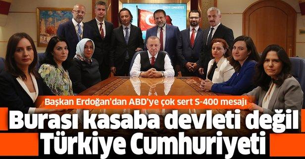Başkan Erdoğan'dan ABD'ye S-400 mesajı