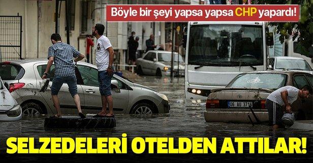 CHP'li belediye selzedeleri otelden attı