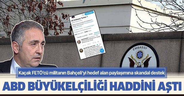 ABD Büyükelçiliği'nden FETÖ'ye skandal destek!
