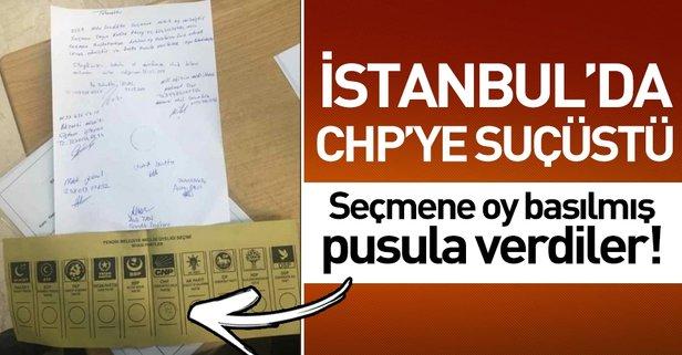 Seçmene CHP'ye oy basılmış pusula verildi