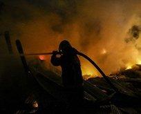 Ankara'da pelet deposunda yangın
