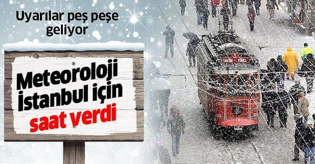 İstanbul'da kar yağışı için saat verildi!