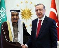 Erdoğan Suudi Arabistan Kralı Selman ile görüştü