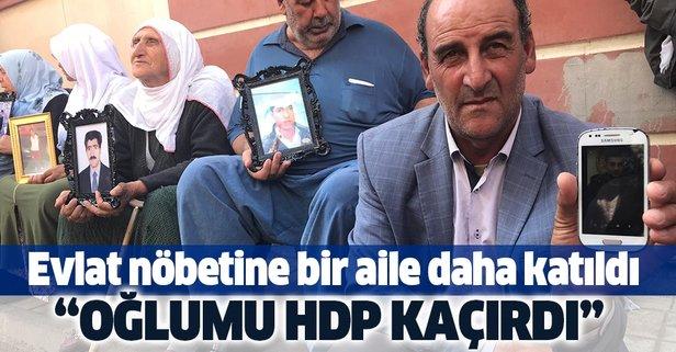 Evlat nöbetine bir aile daha katıldı! Oğlumu HDP kaçırdı