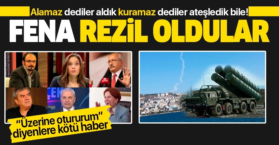 Türkiye S-400'leri aktif edemez diyenler rezil oldu!