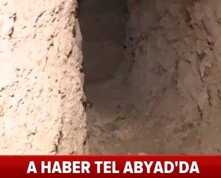 PKK/YPG'nin Tel Abyad ana komuta merkezindeki gizli cephaneliği!