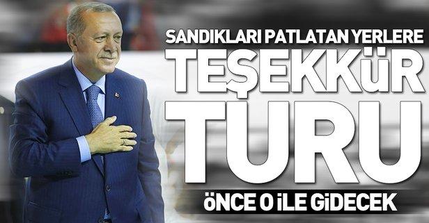 Erdoğan'ın teşekkür ziyaretlerine başlıyor