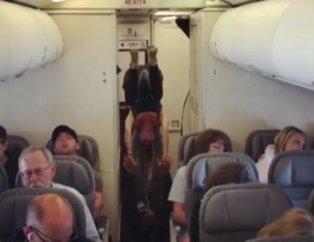 Uçakta akılalmaz anlar kameralara böyle yansıdı