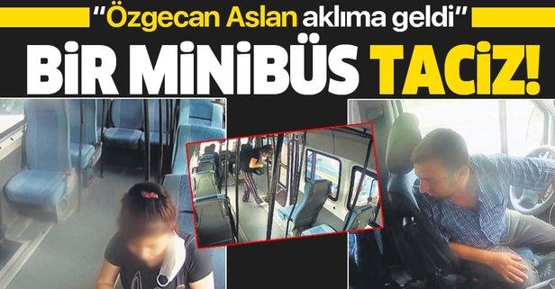 Bir minibüs taciz