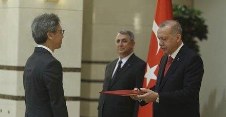 Paraguay Büyükelçisi Peralta'dan Başkan Erdoğan'a güven mektubu