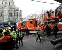 Aksarayda otobüs kazası! Tramvay seferleri aksadı