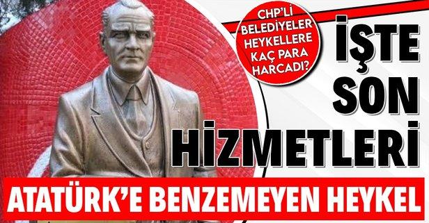 SON DAKİKA: CHP'li İzmit Belediyesi Atatürk'e benzemeyen iki Atatürk heykeli için 72 bin lira ödedi