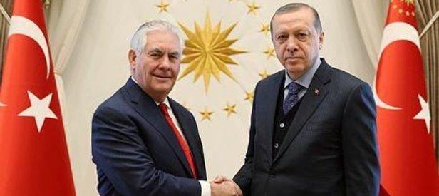 Erdoğan Tillerson'ı kabul etti