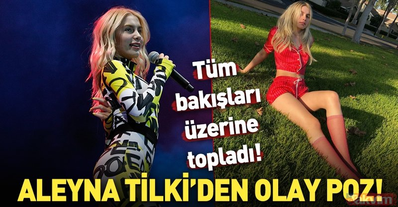 Aleyna Tilki'nin AMV çıkışı verdiği poz olay oldu!