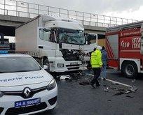 TEMde büyük kaza! Yol trafiğe kapandı