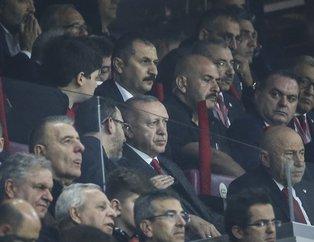 Başkan Erdoğan Türkiye-İzlanda maçını izlemek için Türk Telekom Stadyumu'nda