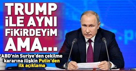 Son dakika: ABD'nin Suriye'den çekilme kararına Putin'den ilk yorum