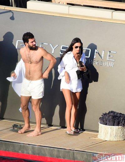 Arda Turan ve eşi Aslıhan Turan'ın Bodrum tatili