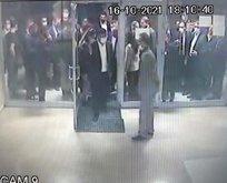 Davutoğlu'nun asansör kazası kamerada