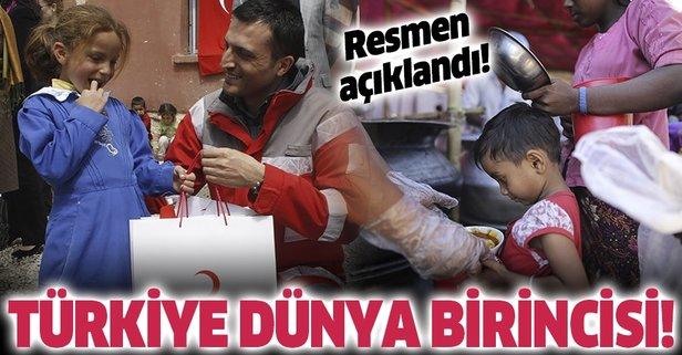 Türkiye yardımda dünya birincisi